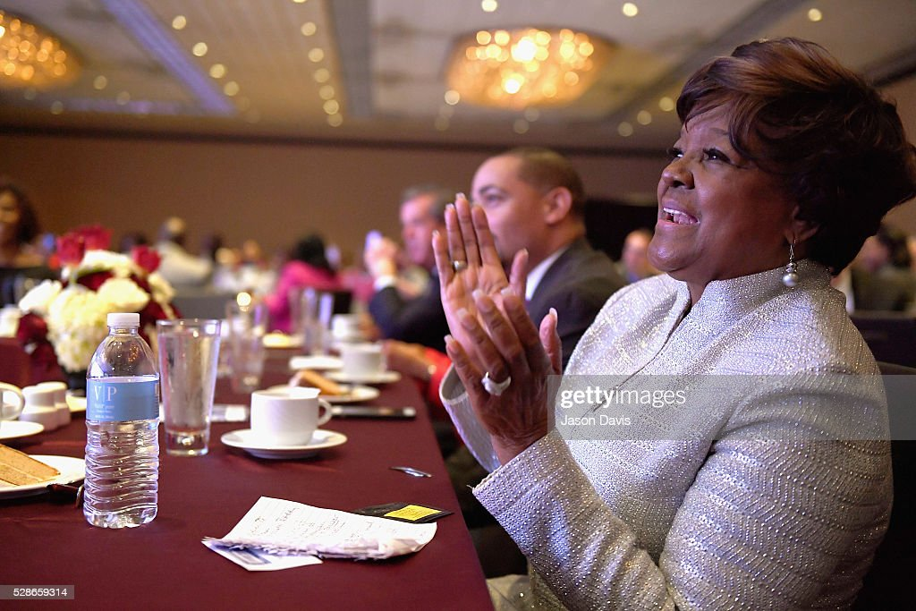 Recording artist Pastor Shirley Caesar watches from the audience during NMAAM's Celebration Of Legends Red Carpet And Luncheon on May 6, 2016 in Nashville, Tennessee.