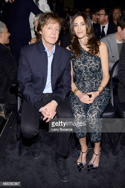 Recording Artist Paul McCartney and Nancy Shevell attend the 56th GRAMMY Awards at Staples Center on January 26 2014 in Los Angeles California