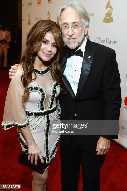 Recording artist Paula Abdul and President/CEO of The Recording Academy and GRAMMY Foundation President/CEO Neil Portnow attend PreGRAMMY Gala and...