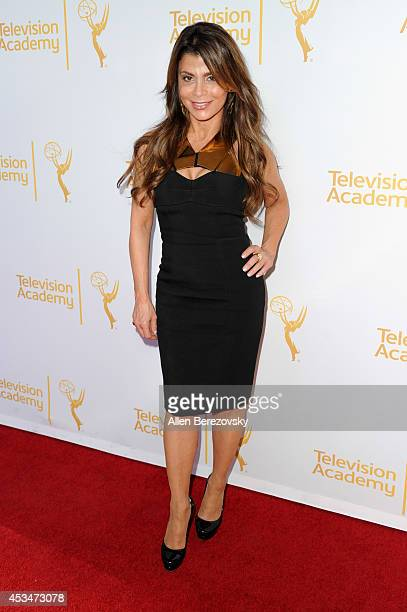 Recording artist Paula Abdul attends Television Academy's directors peer group choreographers celebration at Leonard H Goldenson Theatre on August 10...