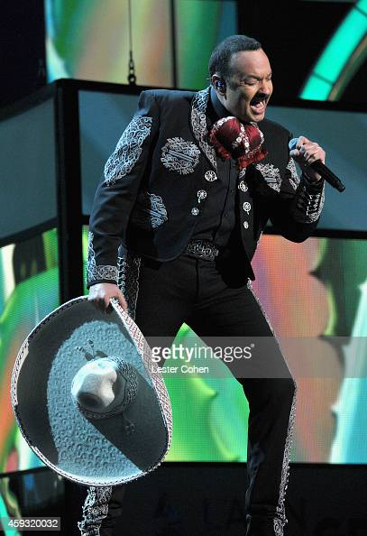 Recording artist Pepe Aguilar performs onstage during the 15th annual Latin GRAMMY Awards at the MGM Grand Garden Arena on November 20 2014 in Las...