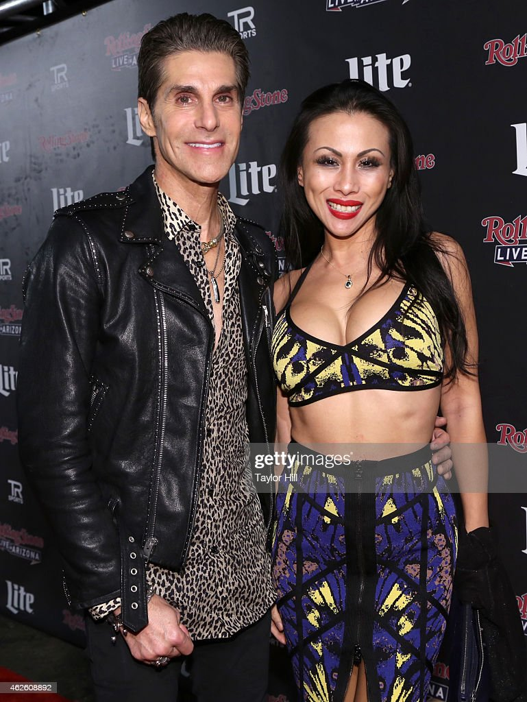 Recording artist Perry Farrell (L) and Etty Lau Farrell attend Rolling Stone LIVE Presented By Miller Lite at The Venue of Scottsdale on January 31, 2015 in Scottsdale, Arizona.