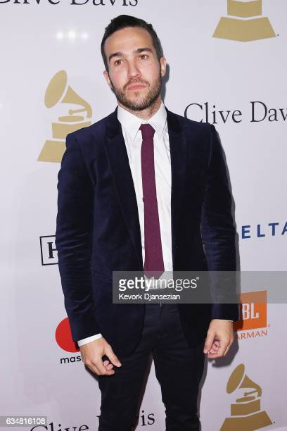 Recording artist Pete Wentz of music group Fall Out Boy attends PreGRAMMY Gala and Salute to Industry Icons Honoring Debra Lee at The Beverly Hilton...