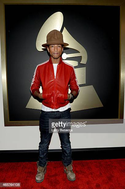 Recording artist Pharrell Williams attends the 56th GRAMMY Awards at Staples Center on January 26 2014 in Los Angeles California