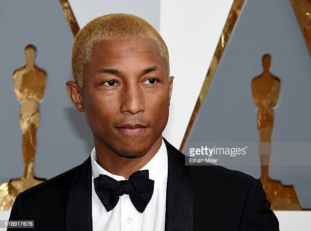 Recording artist Pharrell Williams attends the 88th Annual Academy Awards at Hollywood Highland Center on February 28 2016 in Hollywood California