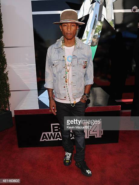 Recording artist Pharrell Williams attends the BET AWARDS '14 at Nokia Theatre LA LIVE on June 29 2014 in Los Angeles California