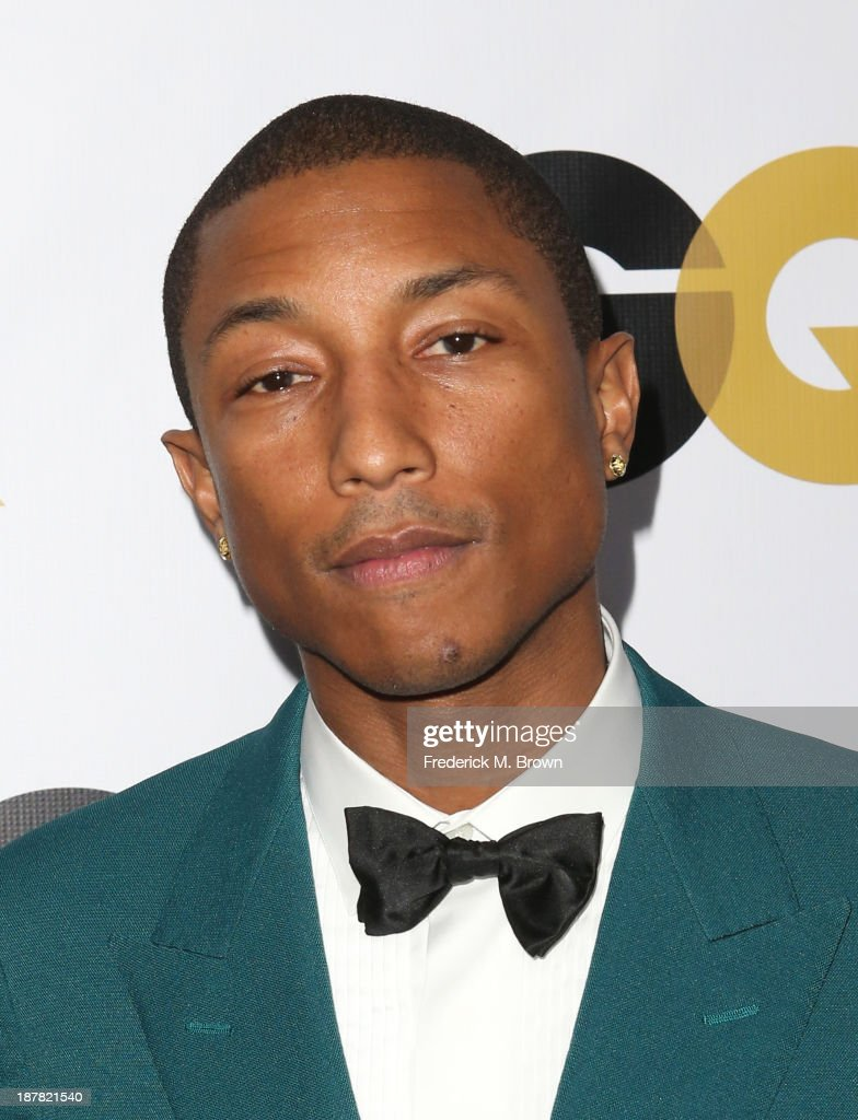 Recording artist <a gi-track='captionPersonalityLinkClicked' href=/galleries/search?phrase=Pharrell+Williams&family=editorial&specificpeople=161396 ng-click='$event.stopPropagation()'>Pharrell Williams</a> attends the GQ Men Of The Year Party at The Ebell Club of Los Angeles on November 12, 2013 in Los Angeles, California.