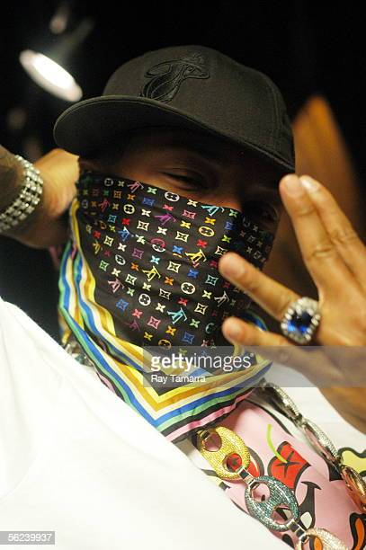 Recording artist Pharrell Williams attends the Notorious BIG Duets Remix Video Shoot Day 2 at a private residence November 18 2005 in New York City