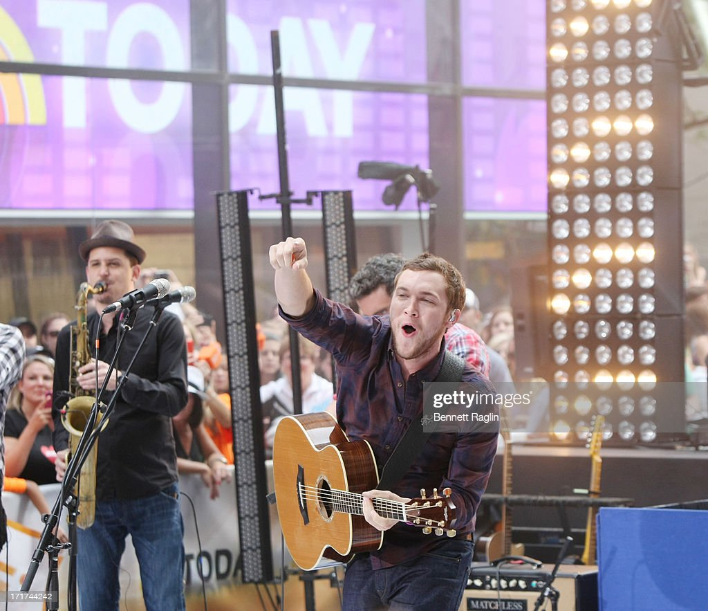 Recording artist <a gi-track='captionPersonalityLinkClicked' href=/galleries/search?phrase=Phillip+Phillips&family=editorial&specificpeople=1651494 ng-click='$event.stopPropagation()'>Phillip Phillips</a> performs on NBC's 'Today' at Rockefeller Plaza on June 28, 2013 in New York City.