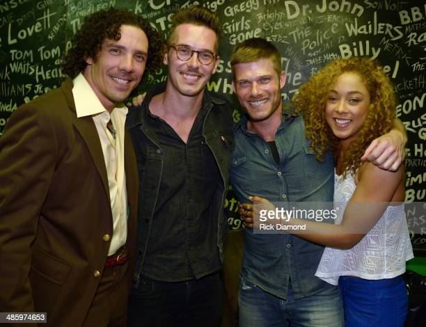 Recording Artist Phoenix Mendoza along with ABC TV's 'Nashville' cast members Sam Palladio and Chaley Rose backstage with Cast Member...