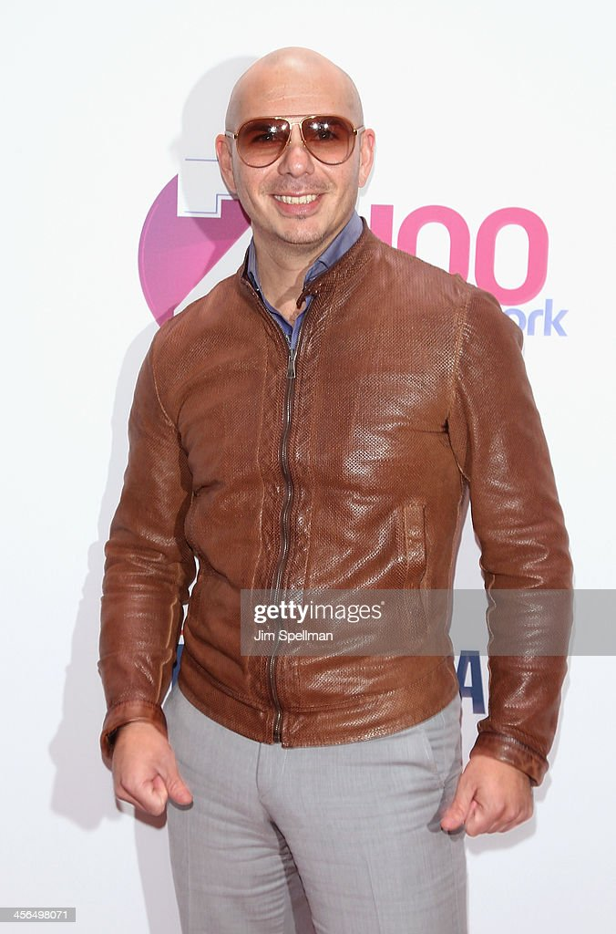 Recording Artist Pitbull attends Z100's Jingle Ball 2013 at Madison Square Garden on December 13, 2013 in New York City.