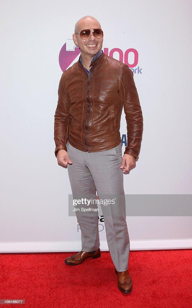 Recording Artist Pitbull attends Z100's Jingle Ball 2013 at Madison Square Garden on December 13, 2013 in New York City.