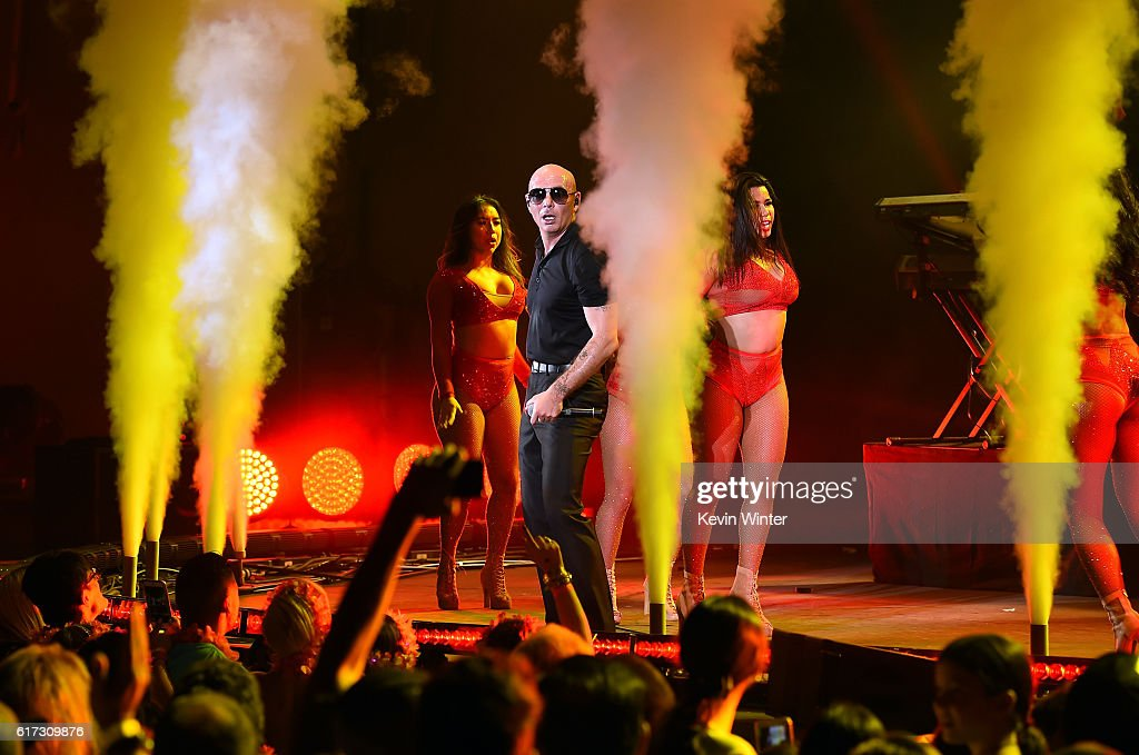 Recording artist Pitbull performs onstage during CBS RADIO's fourth annual We Can Survive concert at the Hollywood Bowl on October 22, 2016 in Hollywood, California.