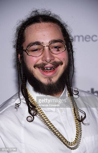 Recording artist Post Malone arrives at the Republic Records Private GRAMMY Celebration at HYDE Sunset Kitchen Cocktails on February 15 2016 in West...