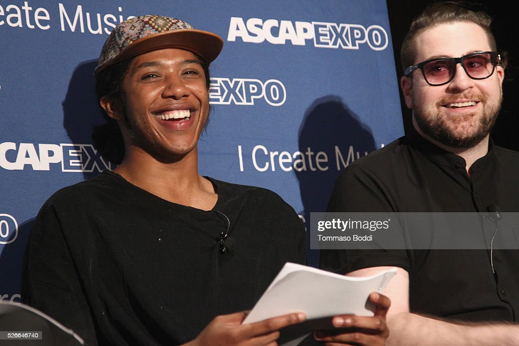 Recording artist Prince Charlez (L) and Seven30 Music CEO Nick Jarjour speakonstage during the 2016 ASCAP 'I Create Music' EXPO on April 30, 2016 in Los Angeles, California.