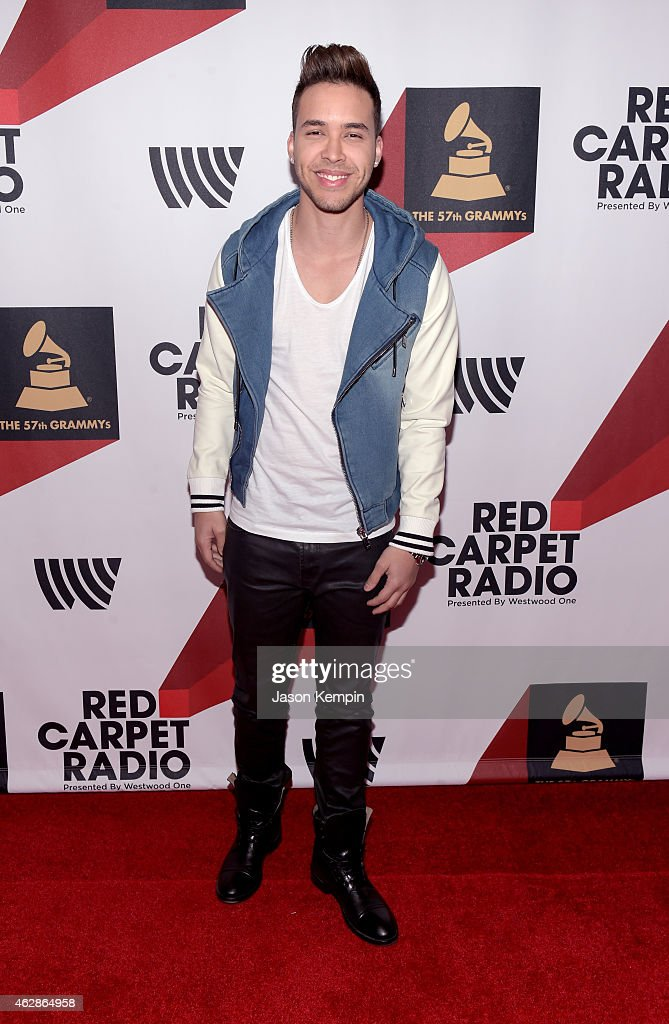 Recording artist <a gi-track='captionPersonalityLinkClicked' href=/galleries/search?phrase=Prince+Royce&family=editorial&specificpeople=6918529 ng-click='$event.stopPropagation()'>Prince Royce</a> attends Red Carpet Radio, Backstage at the GRAMMYs presented by Westwood One during The 57th Annual GRAMMY Awards at the Staples Center on February 6, 2015 in Los Angeles, California.