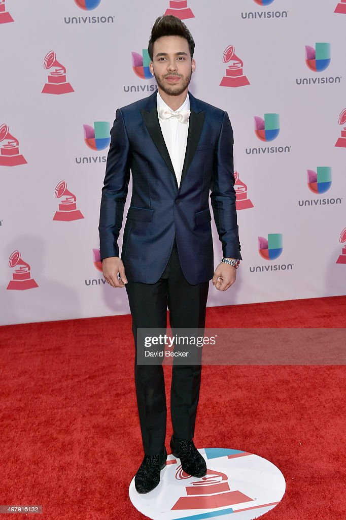 Recording artist <a gi-track='captionPersonalityLinkClicked' href=/galleries/search?phrase=Prince+Royce&family=editorial&specificpeople=6918529 ng-click='$event.stopPropagation()'>Prince Royce</a> attends the 16th Latin GRAMMY Awards at the MGM Grand Garden Arena on November 19, 2015 in Las Vegas, Nevada.