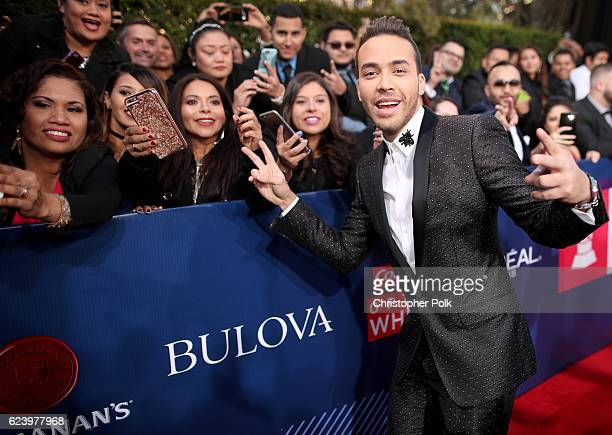 Recording artist Prince Royce attends The 17th Annual Latin Grammy Awards at TMobile Arena on November 17 2016 in Las Vegas Nevada