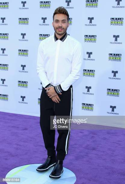 Recording artist Prince Royce attends The 2017 Latin American Music Awards at Dolby Theatre on October 26 2017 in Hollywood California