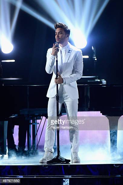 Recording artist Prince Royce performs onstage during the 16th Latin GRAMMY Awards at the MGM Grand Garden Arena on November 19 2015 in Las Vegas...