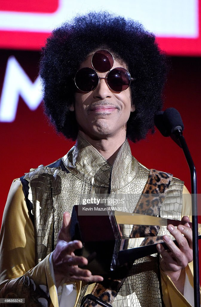 Recording artist Prince speaks onstage during the 2015 American Music Awards at Microsoft Theater on November 22, 2015 in Los Angeles, California.