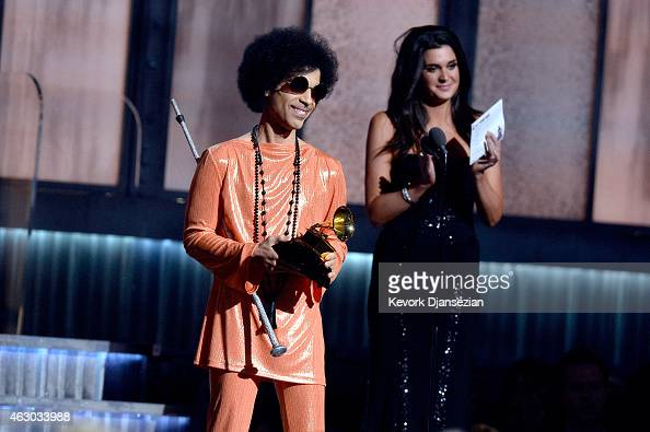 Recording artist Prince speaks onstage during The 57th Annual GRAMMY Awards at the at the STAPLES Center on February 8 2015 in Los Angeles California
