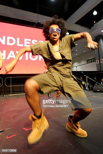Recording artist Princeton of Mindless Behavior performs onstage during the Coke music studio during the 2016 BET Experience on June 26 2016 in Los...