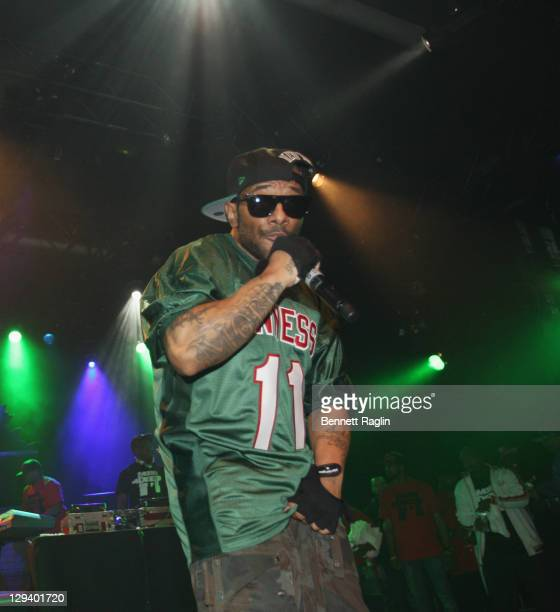 Recording artist Prodigy and Havoc of Mobb Deep perform at Best Buy Theater on May 12 2011 in New York New York
