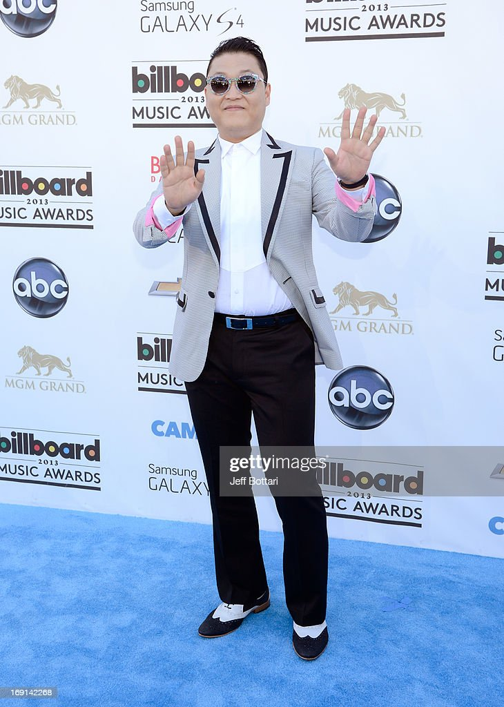 Recording artist Psy arrives at the 2013 Billboard Music Awards at the MGM Grand Garden Arena on May 19, 2013 in Las Vegas, Nevada.