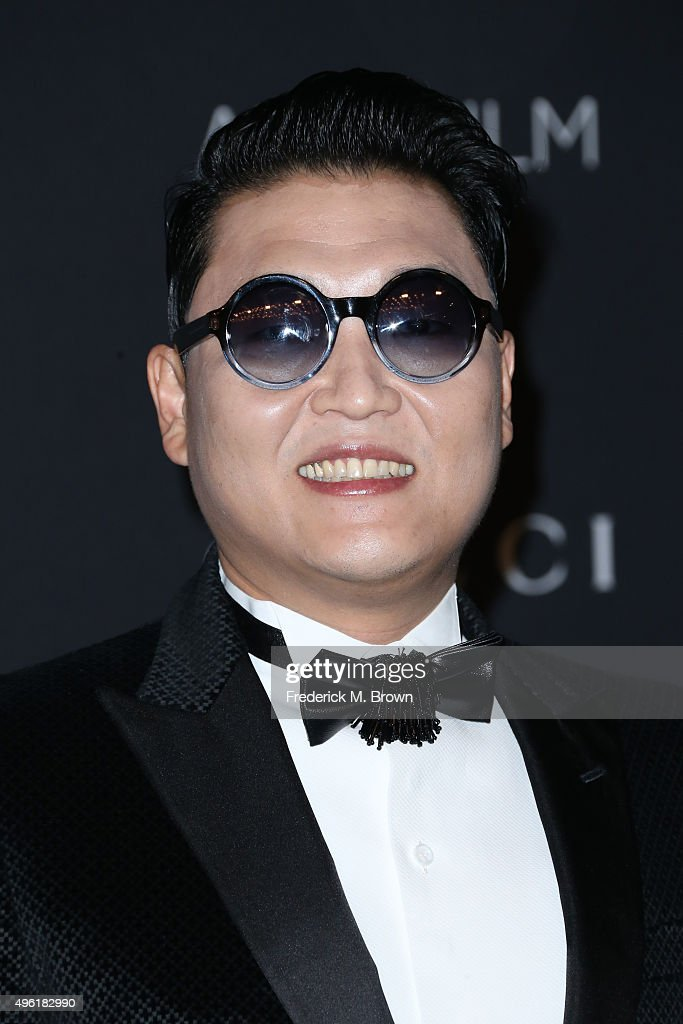 Recording artist PSY attends LACMA 2015 Art+Film Gala Honoring James Turrell and Alejandro G Iñárritu, Presented by Gucci at LACMA on November 7, 2015 in Los Angeles, California.