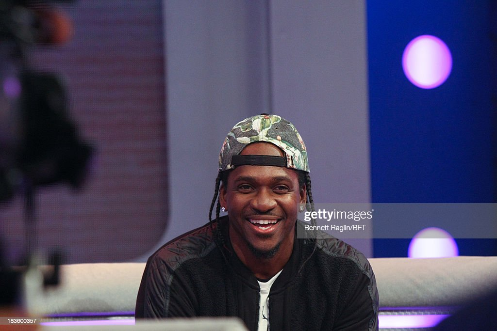 Recording artist <a gi-track='captionPersonalityLinkClicked' href=/galleries/search?phrase=Pusha+T&family=editorial&specificpeople=3994271 ng-click='$event.stopPropagation()'>Pusha T</a> visits 106 & Park at 106 & Park studio on October 7, 2013 in New York City.