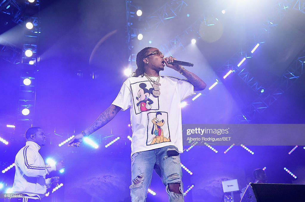 Recording Artist Quavo of Migos performs onstage during the 2016 BET Experience at Staples Center on June 25, 2016 in Los Angeles, California.