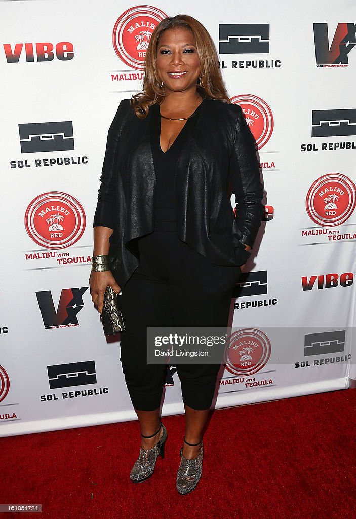 Recording artist Queen Latifah attends VIBE's 20th Anniversary Celebration and Inaugural Impact Awards at the Sunset Tower Hotel on February 8, 2013 in West Hollywood, California.