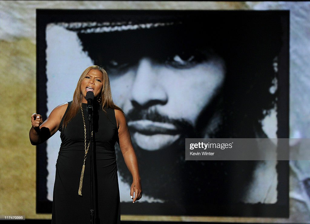 Recording artist <a gi-track='captionPersonalityLinkClicked' href=/galleries/search?phrase=Queen+Latifah&family=editorial&specificpeople=171793 ng-click='$event.stopPropagation()'>Queen Latifah</a> performs onstage during the BET Awards '11 held at the Shrine Auditorium on June 26, 2011 in Los Angeles, California.