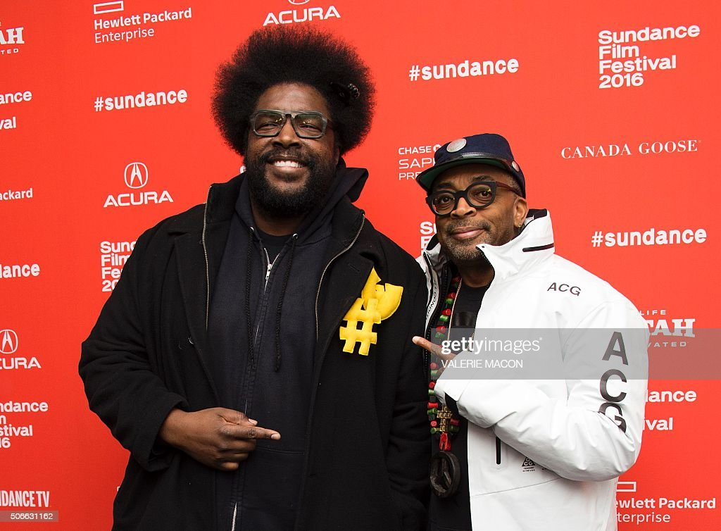 Recording artist Questlove and director Spike Lee attend the Michael Jackson's Journey from Motown to off wall Premiere at the Sundance Film Festival...