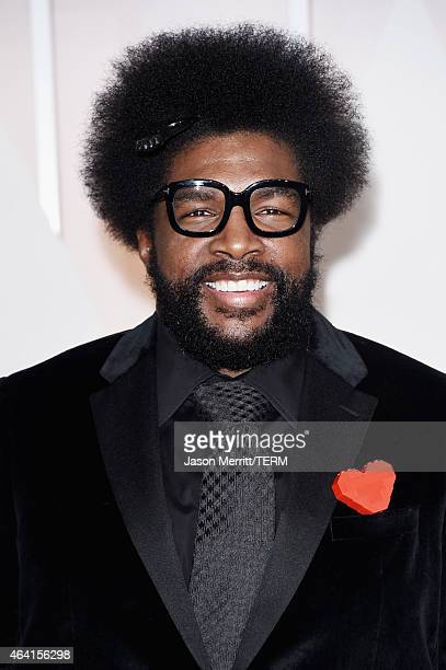 Recording artist Questlove attends the 87th Annual Academy Awards at Hollywood Highland Center on February 22 2015 in Hollywood California