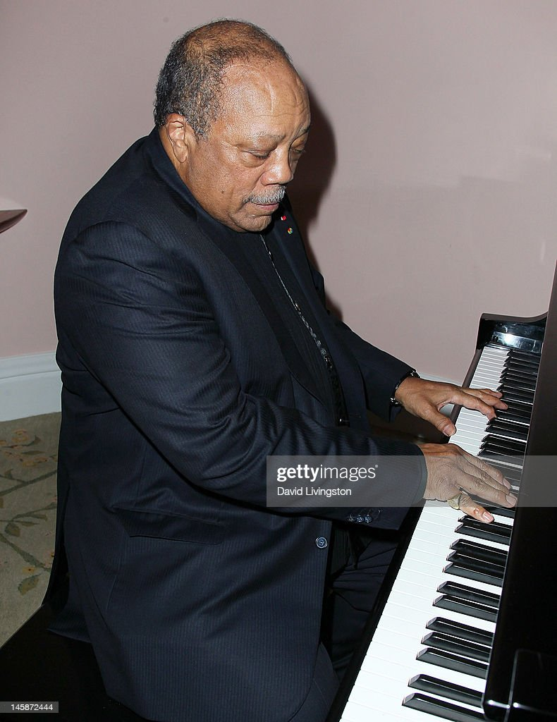 Recording artist <a gi-track='captionPersonalityLinkClicked' href=/galleries/search?phrase=Quincy+Jones&family=editorial&specificpeople=171797 ng-click='$event.stopPropagation()'>Quincy Jones</a> attends the UCLA Longevity Center's 2012 ICON Awards at the Beverly Hills Hotel on June 6, 2012 in Beverly Hills, California.