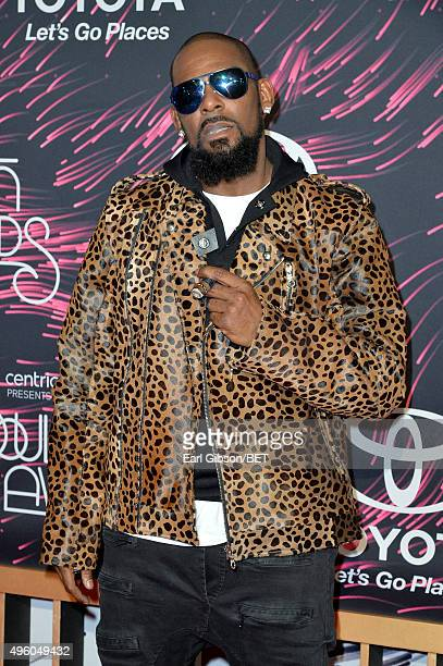 Recording artist R Kelly attends the 2015 Soul Train Music Awards at the Orleans Arena on November 6 2015 in Las Vegas Nevada