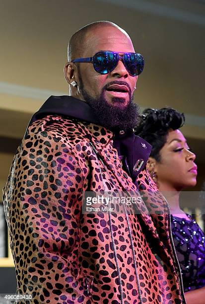 Recording artist R Kelly attends the 2015 Soul Train Music Awards preshow at the Orleans Arena on November 6 2015 in Las Vegas Nevada