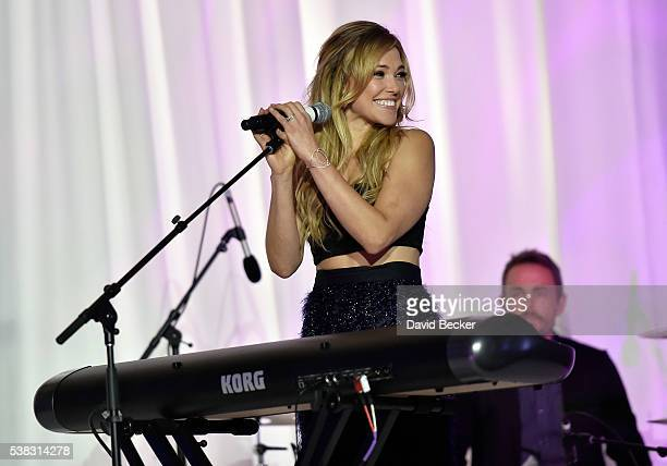 Recording artist Rachel Platten performs at the Le Vian 2017 Red Carpet Revue at the Mandalay Bay Convention Center on June 5 2016 in Las Vegas Nevada
