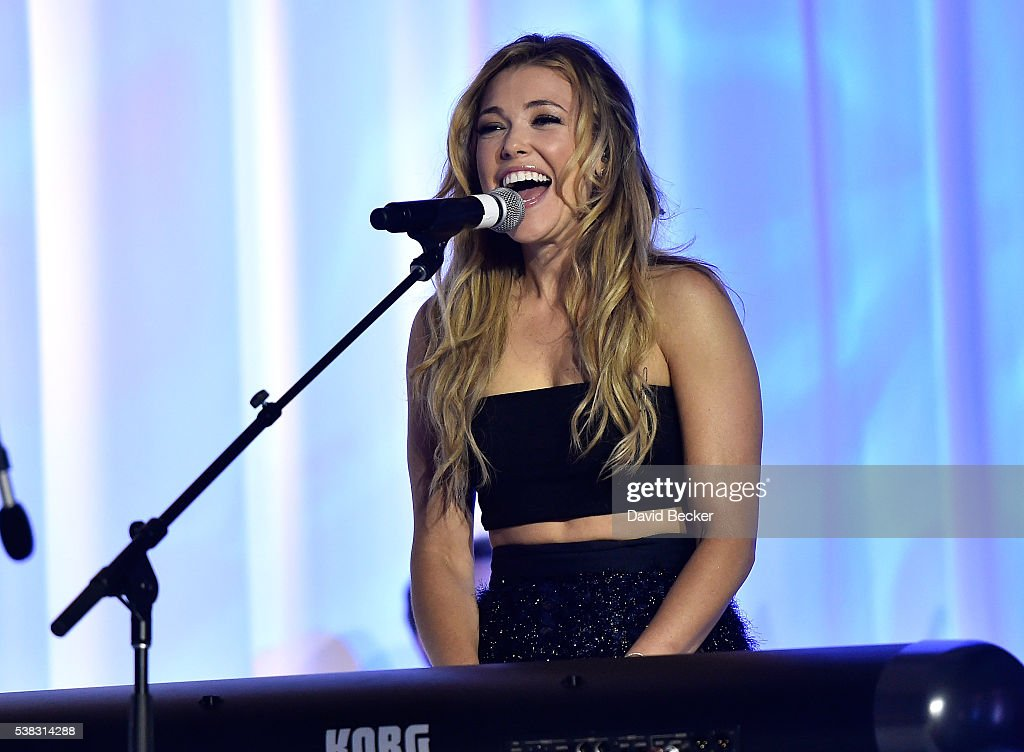 Recording artist Rachel Platten performs at the Le Vian 2017 Red Carpet Revue at the Mandalay Bay Convention Center on June 5, 2016 in Las Vegas, Nevada.