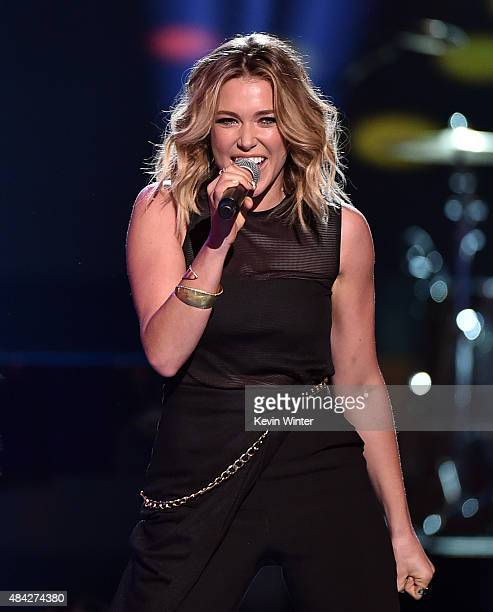 Recording artist Rachel Platten performs onstage during the Teen Choice Awards 2015 at the USC Galen Center on August 16 2015 in Los Angeles...
