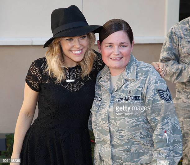 Recording Artist Rachel Platten visits MacDill Air Force Base and brings Cracker Barrel old country store toys and gift cards for air man and...