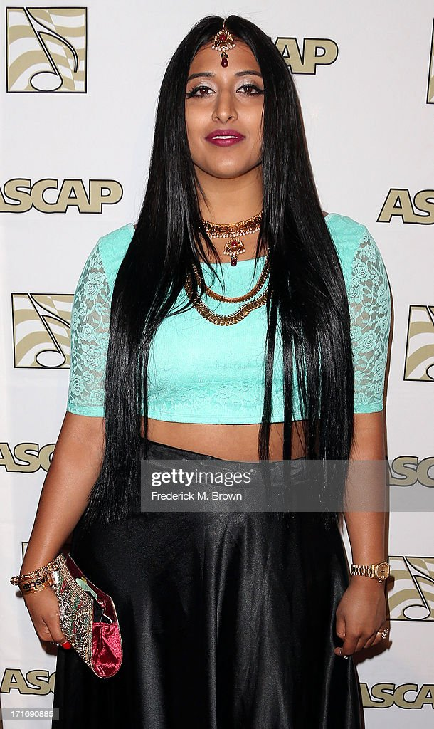 Recording artist Raja Kumari attends The American Society of Composers, Authors and Publishers (ASCAP) 26th Annual Rhythm & Soul Music Awards at The Beverly Hilton Hotel on June 27, 2013 in Beverly Hills, California.