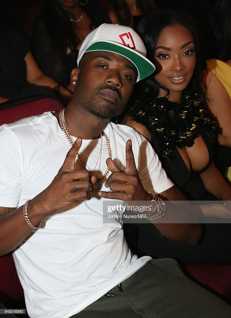 Recording artist <a gi-track='captionPersonalityLinkClicked' href=/galleries/search?phrase=Ray+J&family=editorial&specificpeople=581007 ng-click='$event.stopPropagation()'>Ray J</a> (L) and Princess Love attend the 2016 BET Awards at the Microsoft Theater on June 26, 2016 in Los Angeles, California.