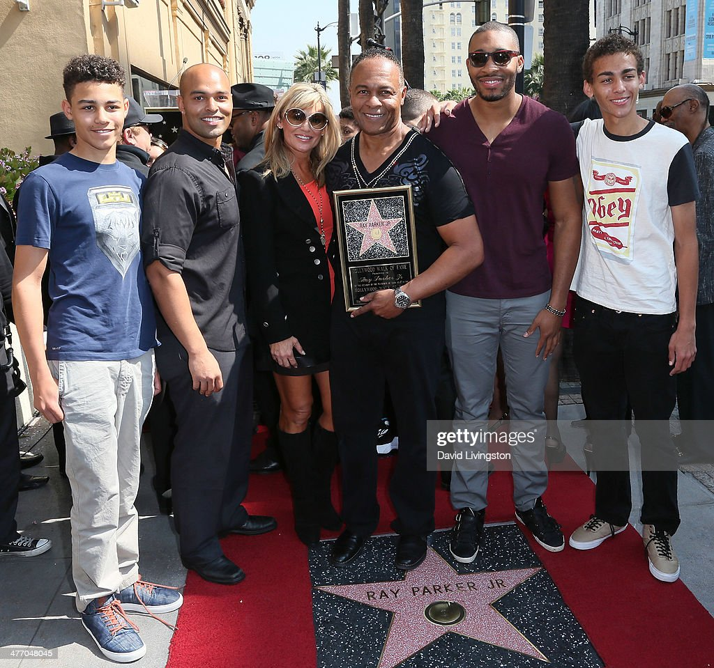 Recording Artist Ray Parker Jr. (C) And Family Members