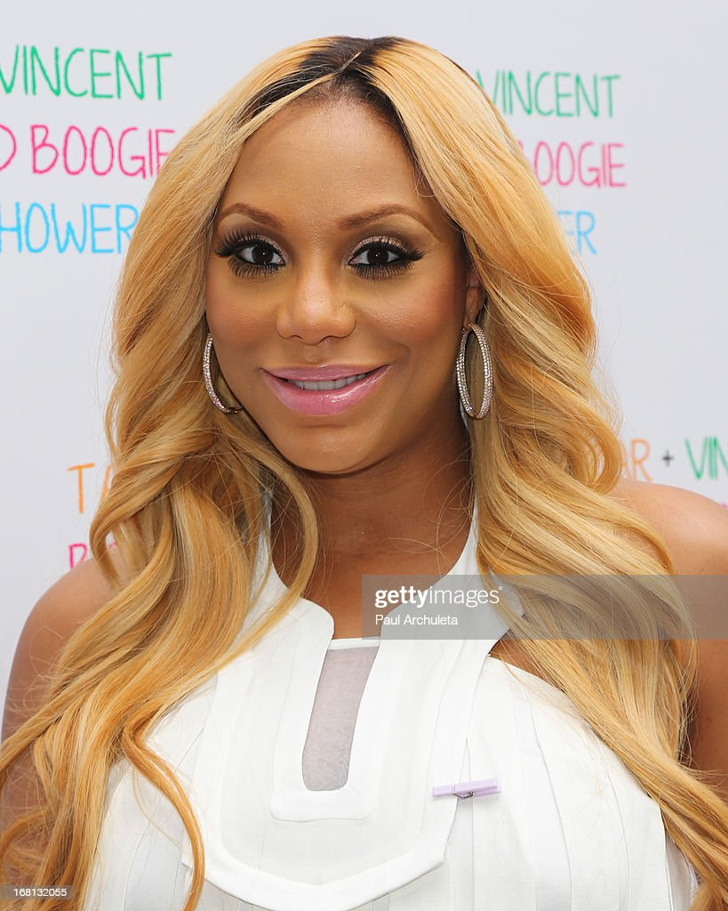 Recording Artist / Reality TV Personality Tamar Braxton attends her carnival themed baby shower at the Hotel Bel-Air on May 5, 2013 in Los Angeles, California.