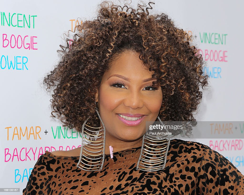 Recording Artist / Reality TV Personality Traci Braxton attends Tamar Braxton's carnival themed baby shower at the Hotel Bel-Air on May 5, 2013 in Los Angeles, California.