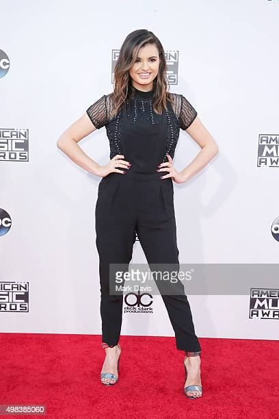 Recording artist Rebecca Black attends the 2015 American Music Awards at Microsoft Theater on November 22 2015 in Los Angeles California