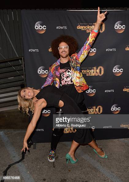 Recording artist Redfoo and professional dancer Emma Slater attend the premiere of ABC's 'Dancing With The Stars' season 20 at HYDE Sunset Kitchen...